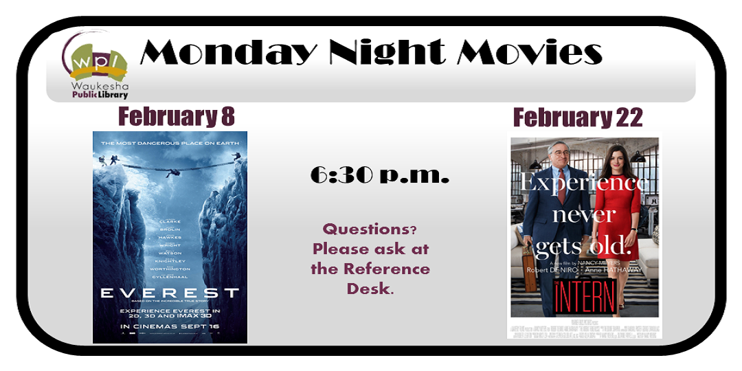 2016 February Movies: Everest & The Intern