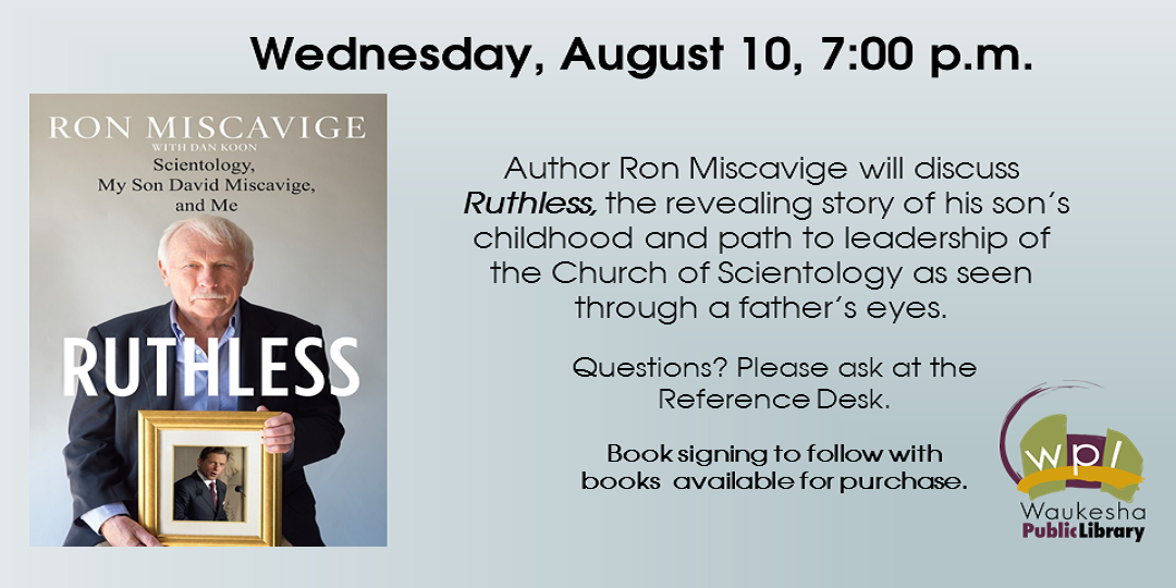 Ron Miscavige discusses his book about the Church of Scientology: Ruthless