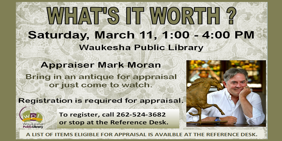 20170311 What's It Worth? with Mark Moran on Saturday March 11 1:00 PM