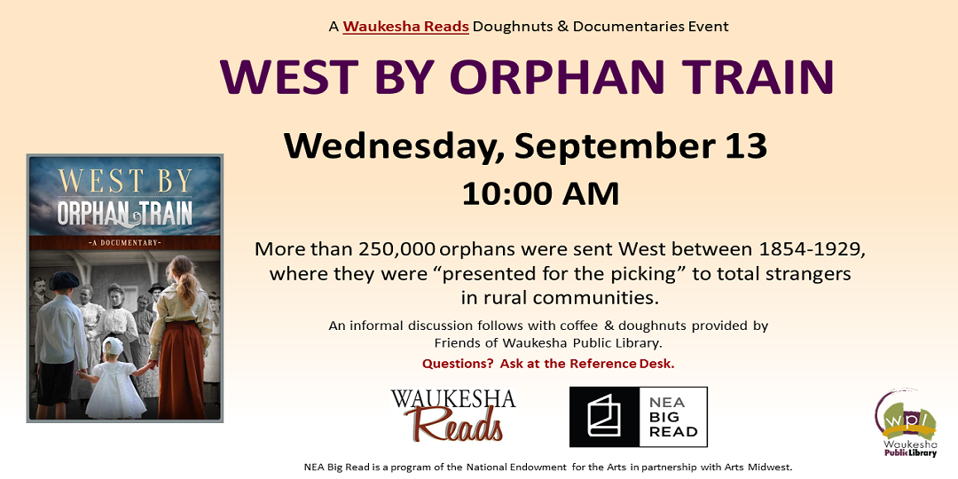 West by Orphan Train documentary September 13 10:00AM