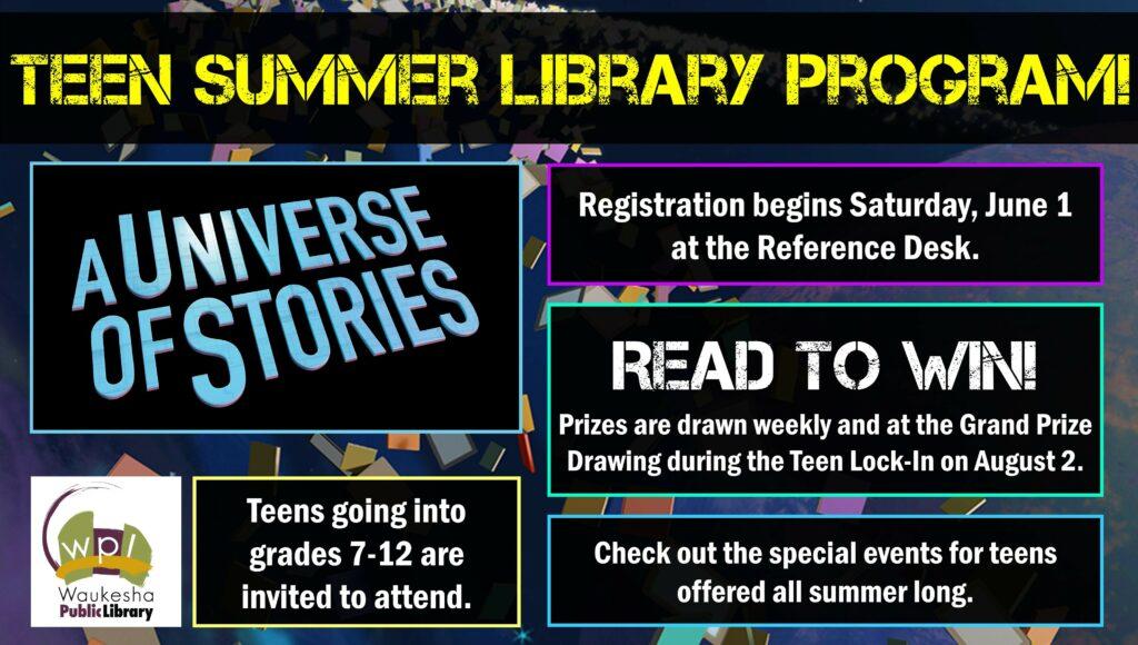 Teen Summer Library Program! – Waukesha Public Library